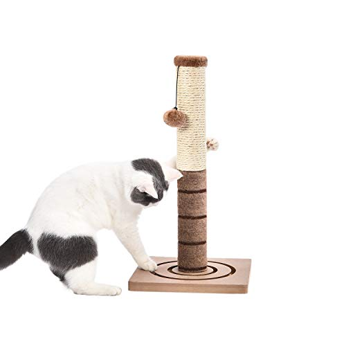 "PAWZ Road 22"" Cat Scratching Post Combines with Cat Interactive Toy -Beige"