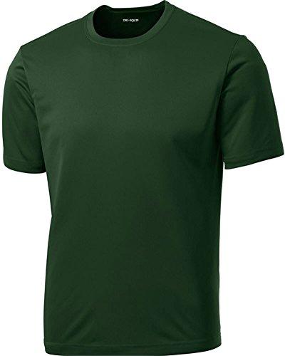 DRIEQUIP Men's Tall Short Sleeve Moisture Wicking Shirt,Forest Green-2XLT