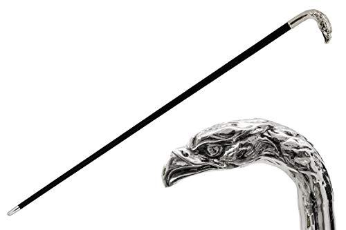 Walking Sticks Eleganter Spazierstock Mann Silber 925 Griff British Dandy für Zeremonie Hochzeit Ältere Menschen Gehstock Mann Eleganter Adlerkopf Stil