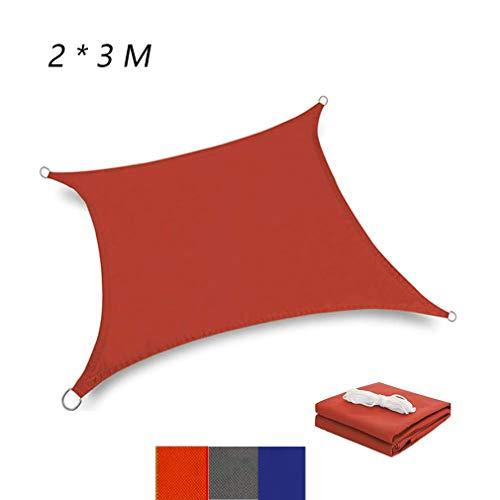 Luckywing - Toldo Rectangular Permeable al Aire, protección contra el Sol, HDPE con protección UV para jardín, terraza, Camping, Barbacoa