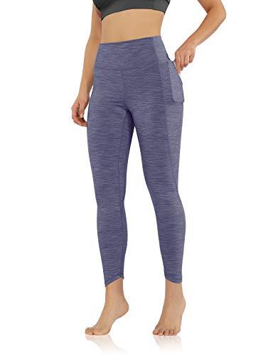 ODODOSWomen's 7/8 Side Pocket Yoga Leggings, High Waisted Workout Leggings 25' Inseam, Space Dye Lavender, X-Large
