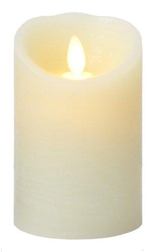 [現行モデル] LUMINARA Sサイズ ピラーキャンドル アイボリー オーシャンブリーズの香り タイマー機能付き ...