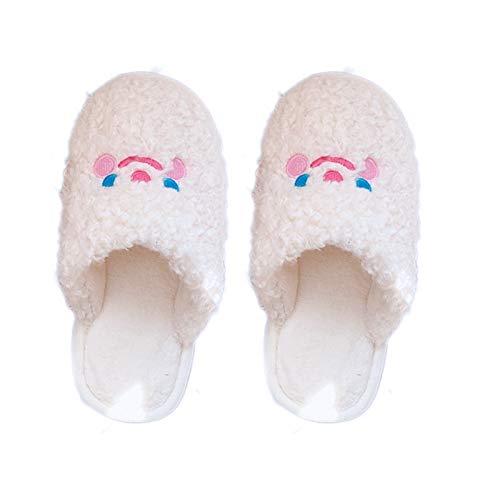 Sylar Zapatillas Estar por casa Invierno Antideslizante Ligeras cálidas Orejas de Conejo Pelo Pantuflas cómoda Suave Slippers calentitas Mujer