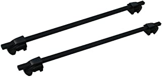 BRIGHTLINES Steel Roof Racks Cross Bars with Locks for Volvo Xc90 Xc70 V70 V50 V40