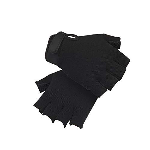 Halbfingerhandschuhe Multi-Funktions-Taktische Handschuhe Sport Schießen Airsoft Paintball Handschuhe Tragbarer Radfahren Fitness-Handschuhe für Kinder 1Pair Schwarz