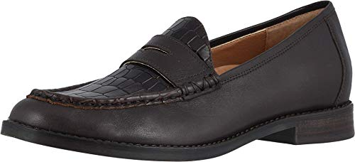 Vionic Women's Wise Waverly Loafer - Ladies Slip-on Shoes with Concealed Orthotic Support Chocolate Croc 7 Medium US