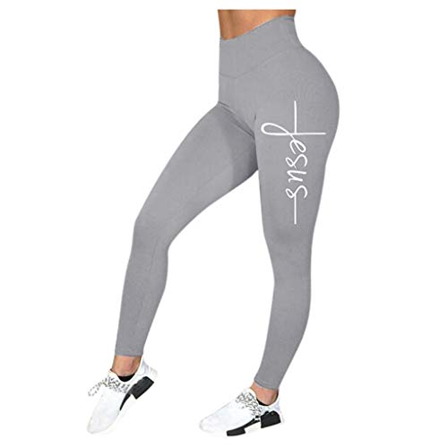Damen Yoga Hohe Taillen Hosen Casual Letter Print Leggings Fitness Sport Frauen Laufen Yoga Athletic Pants