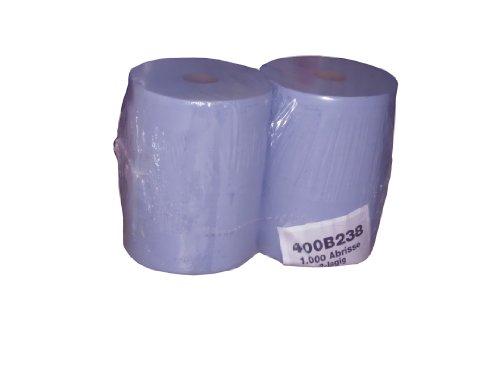 2 Putzrollen Putztuchrollen Wischtücher blau 2 x 1000 Blatt 36x36cm saugstark reißfest