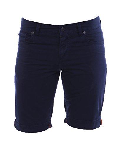ALBERTO Herren Shorts Pipe-K Soft Cotton 4567-1706-890 Dark Blue Garment Dyed Regular Slim fit (32W)