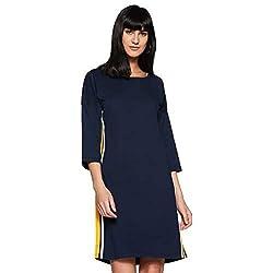 Miss Olive Womens Shift Knee-Long Dress Olive