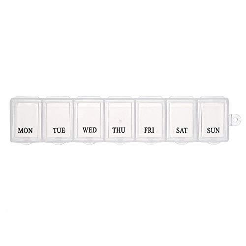 Preisvergleich Produktbild LBWNB Pillenetui 1PC Neue 7-Tage-Wochen Stil Morgen Nacht Pille-Halter-Speicher-Organisator Kunststoff-Behälter-Kasten-beweglicher Spielraum-Pille-Kasten Körperpflege (Color : 04)