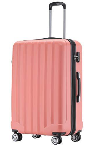 BEIBYE BEIBYE TSA-Schloß 2080 Hangepäck Zwillingsrollen neu Reisekoffer Koffer Trolley Hartschale Set-XL-L-M(Boardcase) (Aprikosenblüten, XL)