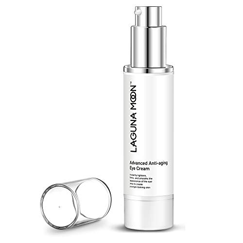 Lagunamoon Anti-Aging Eye Cream Quickly Remove Dark Circles, Puffiness, Wrinkles, Fine Lines, Under Eye Bags, Crow's Feet, and Sagging Eyelids, 1.7 FL Oz.