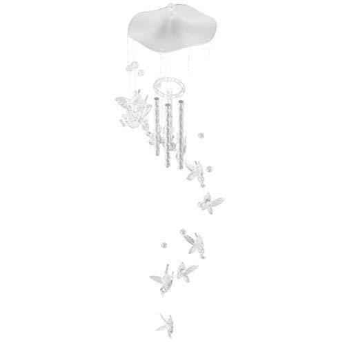 NUOBESTY Windspiel Klares Windspiel mit Hohlen Aluminiumrohren für Innen- Und Außendekoration im Garten