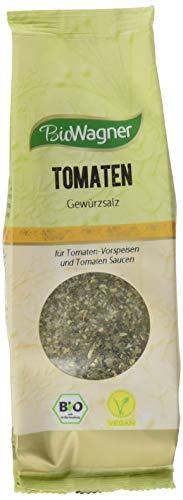 Bio Wagner Bio Tomate Mozzarella Gewürzsalz im umweltfreundlichen Nachfüllbeutel, 4er Pack (4 x 100 g)