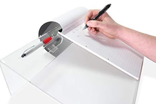 Yangtastic® Ergonomischer Abgewinkelter A3-Schrägbrett-Schreibblock mit Griff Komplett mit einem Reinigungstuch | Neigung Schreibunterlage für Dyspraxie