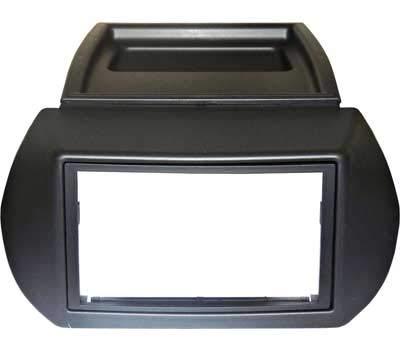 Mascherina autoradio 2 Din con cornice radio colore GRIGIO SCURO. Vedi sotto per compatibilità veicoli.
