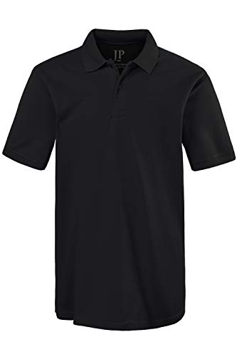 JP 1880 Herren große Größen Poloshirt, Halbarm, gerade geschnitten, Pikee-Qualität schwarz 5XL 702560 10-5XL