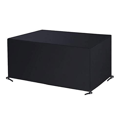 VOXKELY Fundas para muebles de jardín, 420D, de poliéster Oxford resistente, rectangular, impermeable, resistente al viento, anti-UV (123 x 61 x 72 cm)