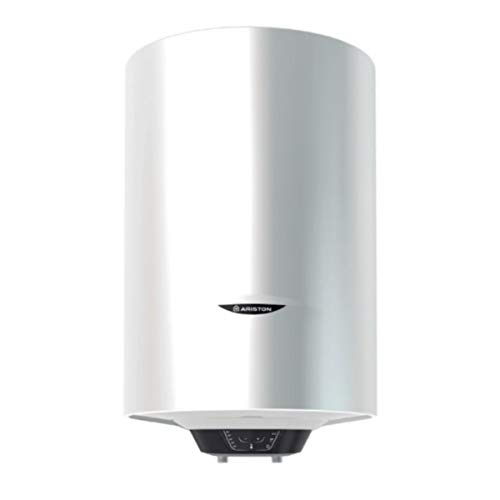 Termo eléctrico, modelo Pro1 Eco Dry Multis 80 EU 1800 W (2x900) de instalación multiposición, display de leds, función Eco Evo, doble resistencia envainada (Referencia: Ariston 3201998), blanco