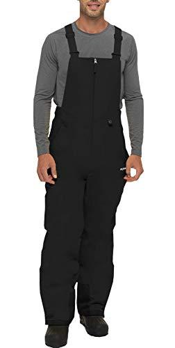 SkiGear Men's Essential Insulated Bib Overalls, Black, XX-Large (44-46W 32L)