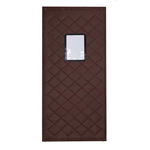 GYPPG Cold Proof Warm Cotton Curtain, Soundproof Transparent Window(30 40cm) Door Curtain, Winter Reusable Wind-Shield Curtain-C 110x200cm(43x79inch)