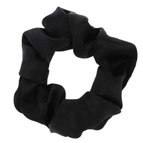 LOVIVER Scrunchies Fluwelen Scrunchies Rubberen Band Elastische Haarbanden Paardenstaart Haarband voor Dames Meisjes - Zwart