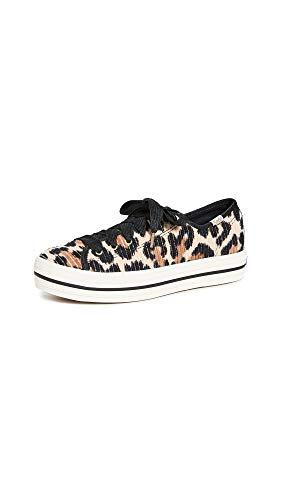 Keds Women's x Kate Spade Triple Kick Leopard Sneakers, Tan Multi, 6 Medium US