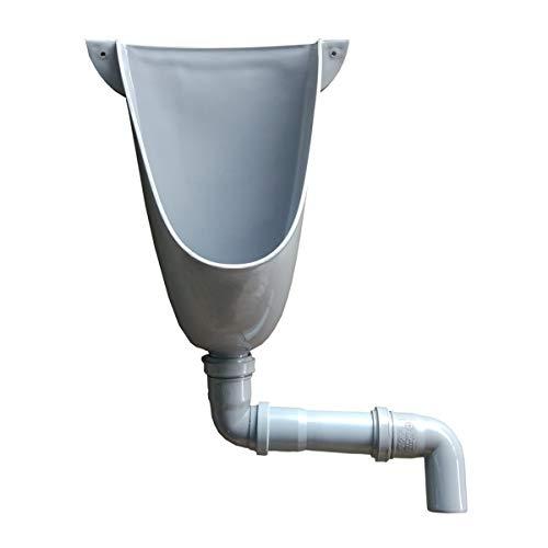 Agande Kunststoff PVC Urinal, einfach und wasserlos mit Abflussrohr für Camping Garten Keller Baustelle WC