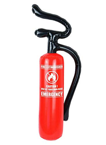 Inflatable Fire Extinguisher 70x17cm Blow Up Toys Fire Fighter Fancy Dress Theme Party Accessory One Size