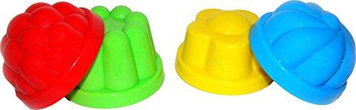 Polesie Legler 8782 - Sandspielzeug - Sandkuchen Förmchen, 4-teilig