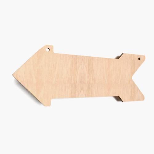 2x Holzpfeile, Malen, Basteln, Aufhängen,Hinweisschild, Naturholz, Schild, Wegbeschreibung,Dekoration, Handwerk
