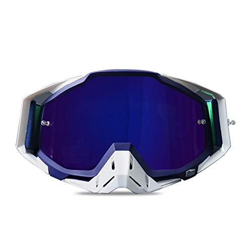 Gafas de Moto antivaho para Hombres, Gafas de Moto de protección UV para Mujer Gafas de Moto Ligeras a Prueba de Polvo para esquí de Motocross