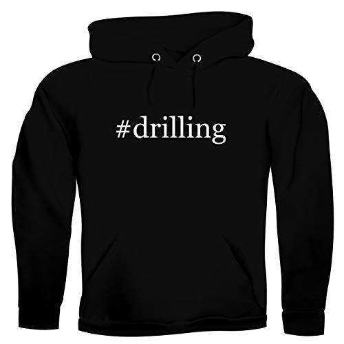#drilling - Men's Hashtag Ultra Soft Hoodie Sweatshirt, Black, Small
