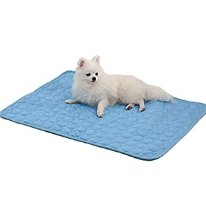 PUMYPOREITY Pet Cooling Mat, Super Lightweight Thin Breathable Dog Cat Summer Sleeping Cooling Blanket Cushion Pad, Keep Pets Cool Comfort for Kennel Sofa Bed Floor Travel Car Seats
