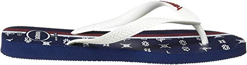 Havaianas Herren Top Nautical Zehentrenner, Mehrfarbig (Navy Blue/White/Apache Red 3116), 37/38 EU