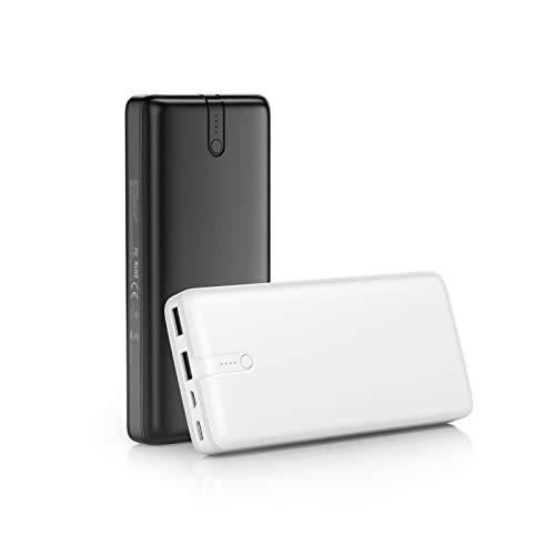 IEsafy Powerbank 2 Stück 20000mAh Externer Akku 2 Ausgängen mit 2.4A und USB C Eingang Schnelle Aufladung Tragbares Ladegerät für iPhone Samsung Huawei Xiaomi iPad und Mehr