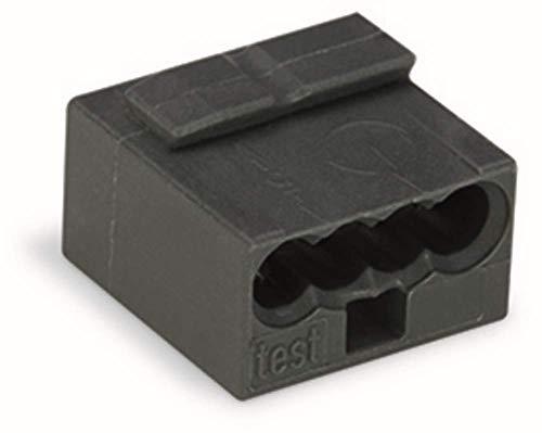 WAGO® Micro-Verbindungsdosenklemme, 4-Leiter, schwarz, 243-204 (100 Stück)