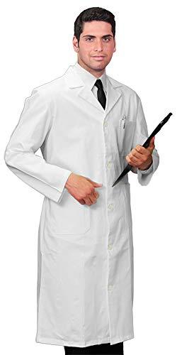 Camice Medico, Modello da Uomo, Divisa da Laboratorio, Antibatterico, Anti-Odore, antimuffa, Traspirante, Confortevole da Indossare (58)