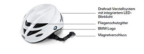 BMW Original Kids Bike Helm Kinderhelm intergriertem LED Rücklicht Größe S