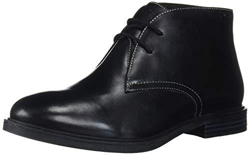 Hush Puppies Women's Bailey Chukka Boot, Black Leather, 8 M US