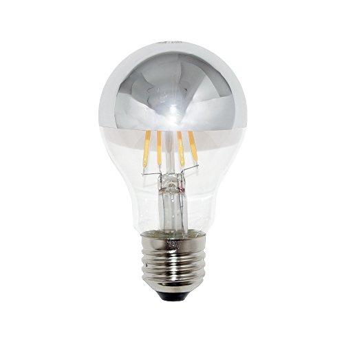 LED Filament Kopfspiegel Silber 4W = 40W E27 AGL Glühlampe Glühbirne Glühfaden warmweiß A+