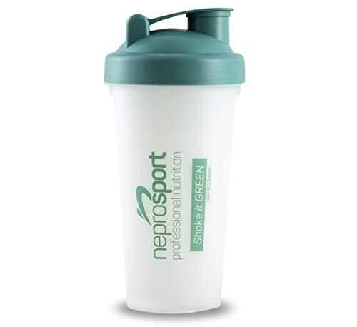 neprosport Bio Shaker - Protein Shaker 700ml - Sieb mit Skala für einen cremigen Eiweiß Shake - AUSLAUFSICHER - BPA frei - RECYCLEBAR - Produktion mit ÖKOSTROM - Herstellung Deutschland