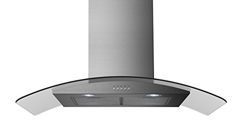 Russell Hobbs RHGCH901SS 90cm Wide 5 Function LED Light Cooker Hood Glass & Stainless Steel
