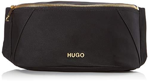 HUGO Megan Bumbag, damescanvas en strandtas, zwart, 6x14x24 cm (B x H T)