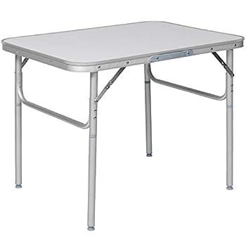 Table de Camping, Pliante, en Aluminium, Portable, Gris
