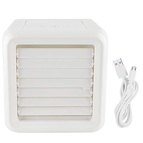 1 x mini-tafelairconditioning met USB-aansluiting, verstelbaar, met 3 snelheidsniveaus, ideaal voor gebruik op kantoor in de woonkamer, keuken, slaapkamer, badkamer.