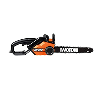 WORX WG303.1 16-Inch 14.5 Amp Electric Chainsaw with Auto-Tension, Chain Brake, and Automatic Oiling