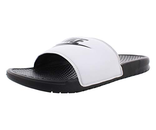 Nike Benassi Just Do It, Ciabatte Uomo, White/Black 100, 44 EU