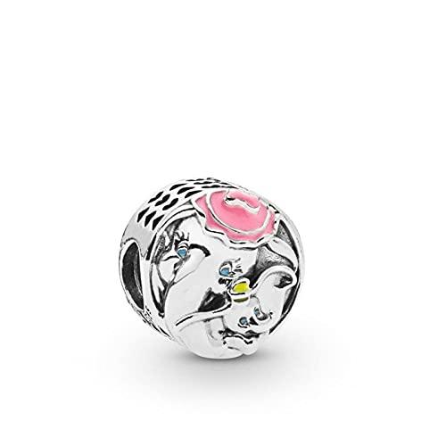 Pandora 925 plata esterlina DIY joyería CharmWoman joyería de moda colgante encanto esmalte elefante cuentas en forma de europa pulsera joyería que hace el regalo